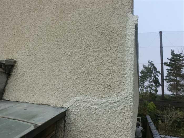 外壁塗材2回目を塗って完了