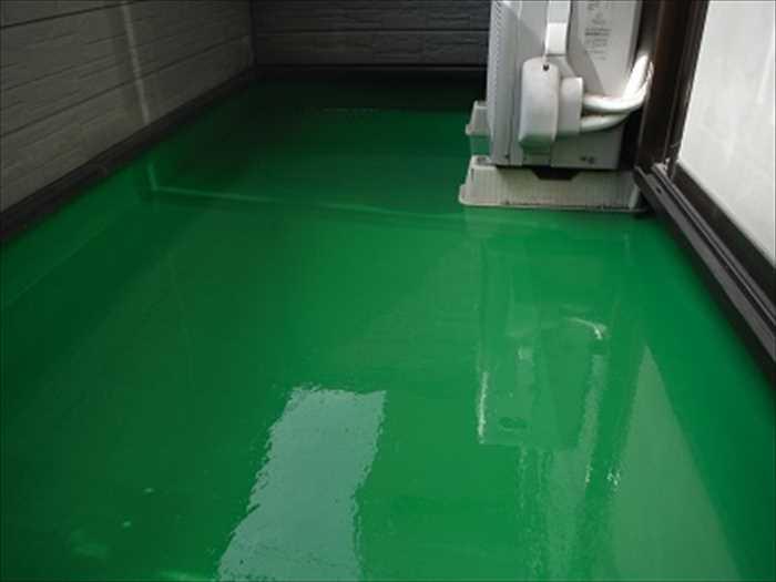 ベランダウレタン塗膜防水完了