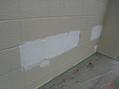 下塗り兼外壁パターン復旧